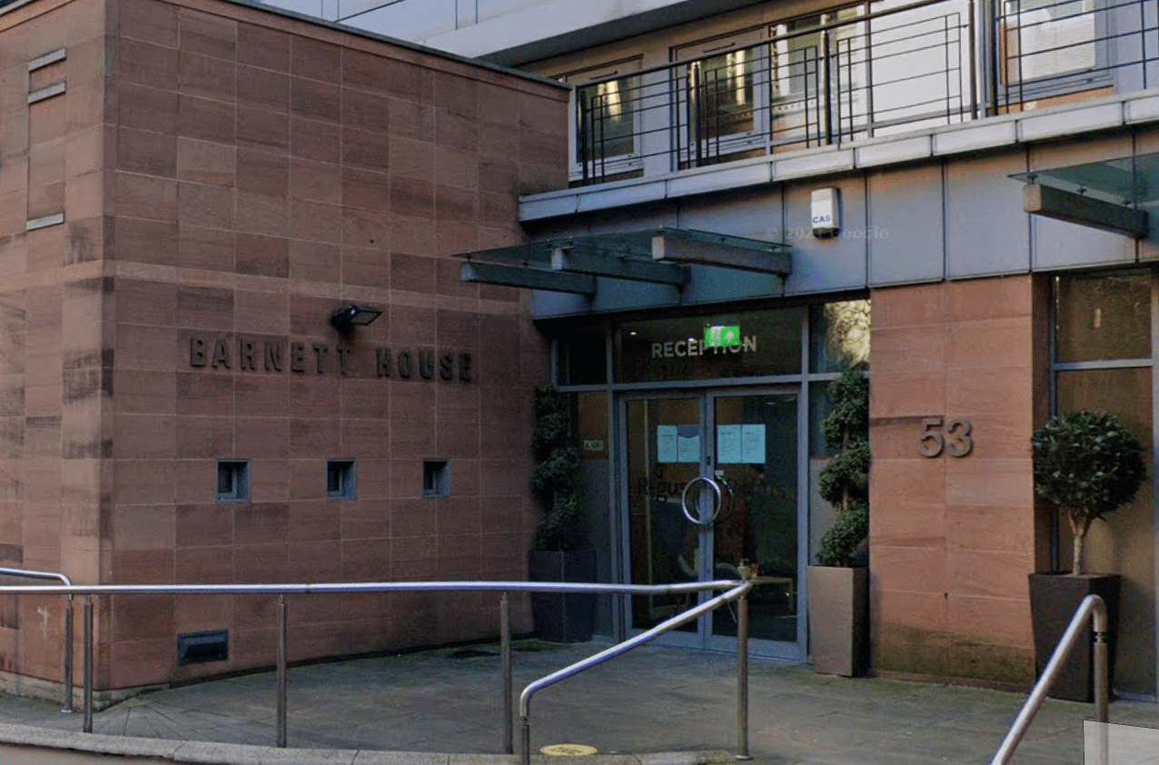 Manchester Hair Transplant Clinic Entrance